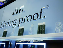 Living Proof Trade Show Booth